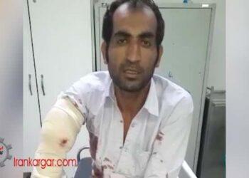 مجروح شدن یک کارگر کارگر مجروح عزیزالله برالی