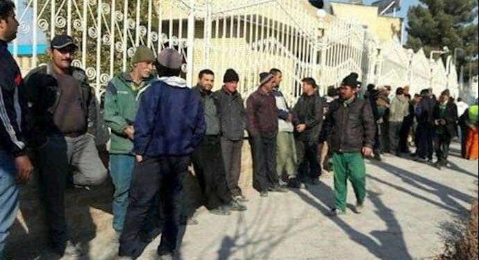تجمع کارگران پسماند شهرداری بجنورد