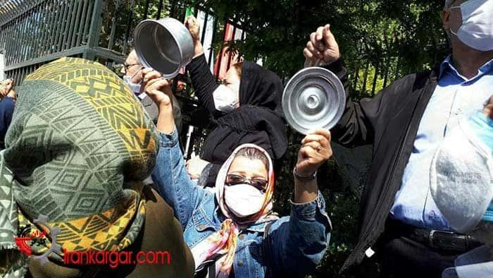 تجمع سراسری بازنشستگان رای مردم به انتخابات