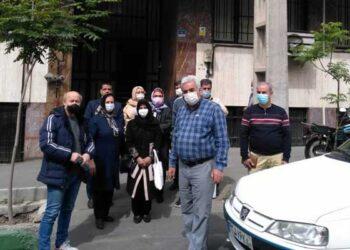 تجمع کارگران بازنشسته هتل لاله در اعتراض به مطالبات معوقه