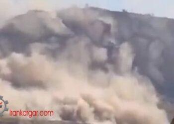 زلزله گناوه و وحشت مردم بدنبال ریزش کوهها