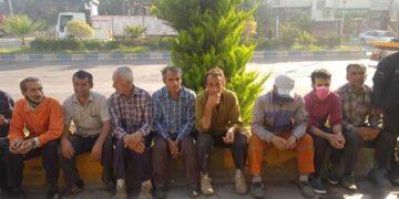 کارگران شهرداری لوشان