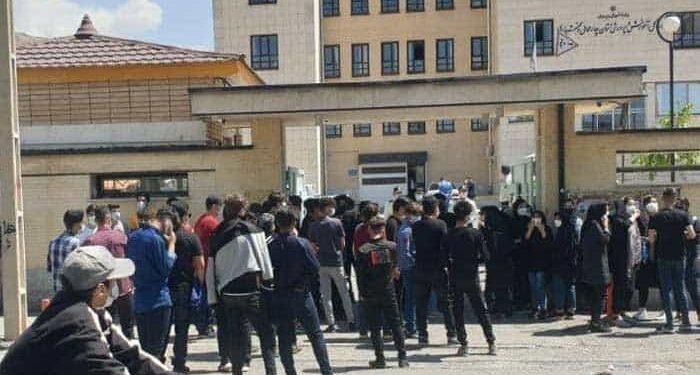 تجمع اعتراضی دانش آموزان امتحانات حضوری