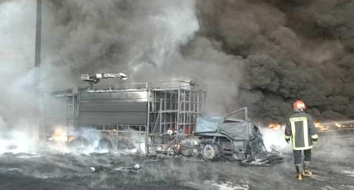 آتش سوزی مهیب کارخانه الکل