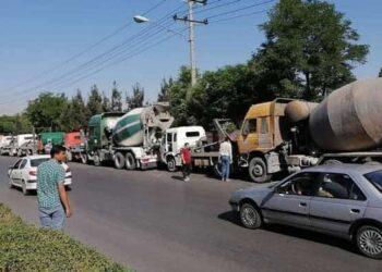اعتصاب کامیونداران اعتراض به فشارهای شهرداری در مشهد