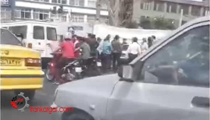 دستگیری تجمع کنندگان روز جهانی کارگر - تهران