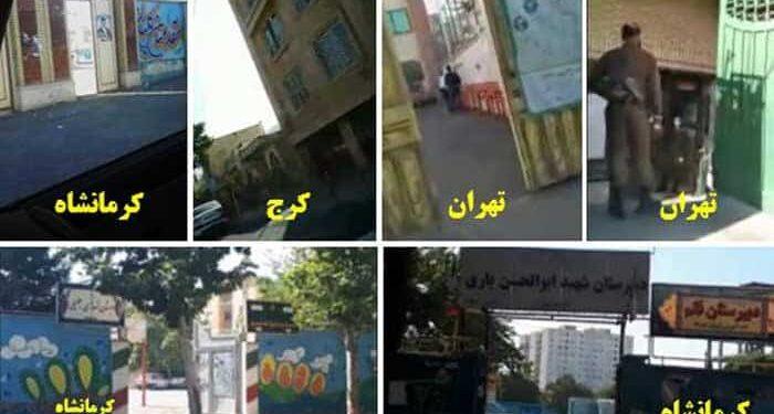 فیلمهای خالی بودن کامل شعبه های رای گیری و کسادی انتخابات در تهران و کرمانشاه