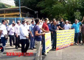 تجمع بازنشستگان شرکت واحد اتوبوسرانی در اعتراض به عدم رسیدگی به مطالبات
