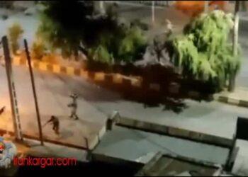 فیلم تیراندازی مستقیم ماموران نیروی ویژه به سمت جوانان معترض در ایذه