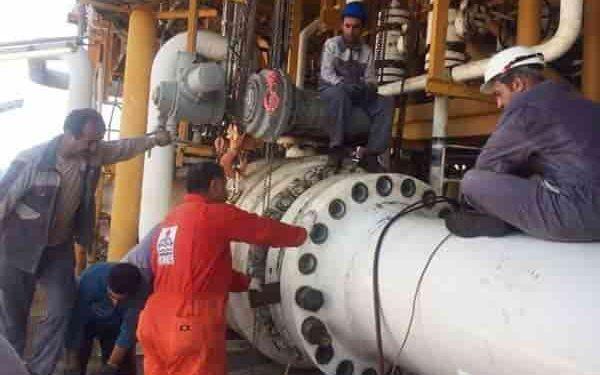 کارکنان رسمی سکوهای گازی