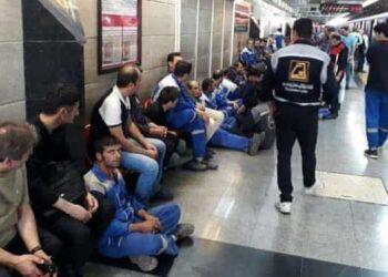 کارکنان خط ۵ مترو صادقیه - گلشهر