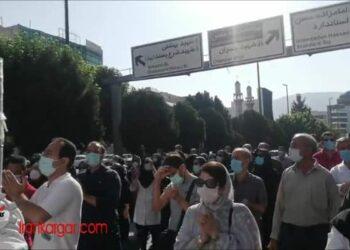 تجمع و راهپیمایی پرسنل بیمارستان خمینی کرج