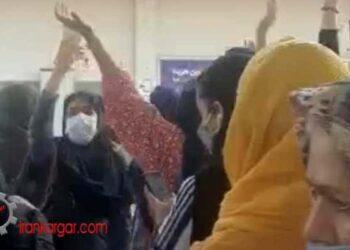 تهران ؛ سر دادن شعار مرگ بر اصل ولایت فقیه توسط مردم در ایستگاه متروی صادقیه تهران