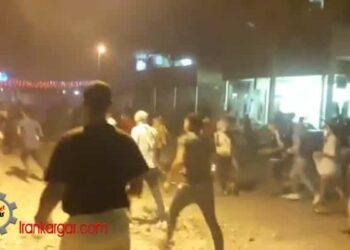 فیلم درگیری شدید جوانان با نیروی ویژه با پرتاب سنگ و عقب راندن آنان در شلنگ آباد اهواز