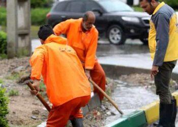 کارگران شهرداری رودبار