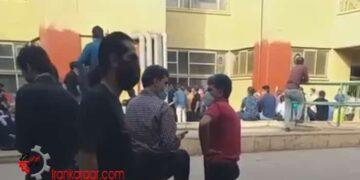 تجمع اعتراضی کارگران فولاد مبارکه اصفهان