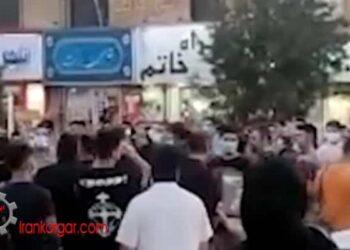 مردم اسلامشهر هم به خیابان آمدند؛ شعار توپ تانک فشفشه آخوند باید گم بشه در اعتراض به قطعی برق