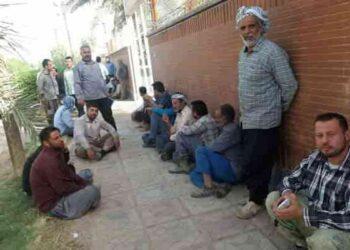 کارگران شهرداری بستان