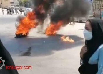 بستن جاده و ادامه اعتراضات شبانه مردم و جوانان جونقان