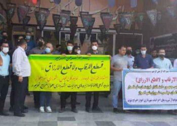 کارگران اخراجی اجرائیات شهرداری