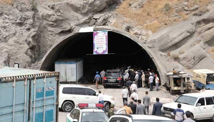 کارگران پروژه تونل آزادراه منجیل به رشت