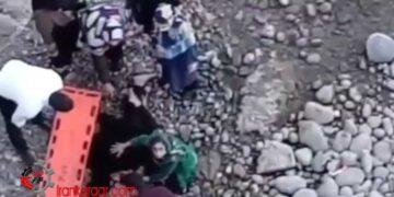فیلم خودکشی دردناک یک خانم با پرتاب خود از بالای پل پس از مشاجره