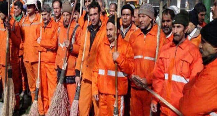 کارگران شهرداری ایرانشهر