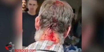 کتک زدن پیرمرد زباله گرد