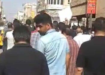 راهپیمایی اعتراضی کارگران هفت تپه، کف خیابانهای شوش + فیلم